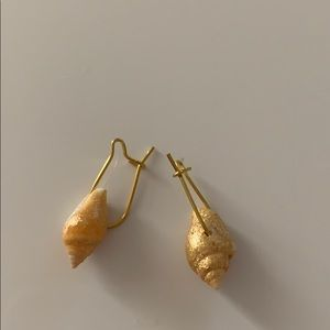 Mini Gold Dust Covered UShape Hoop Earrings